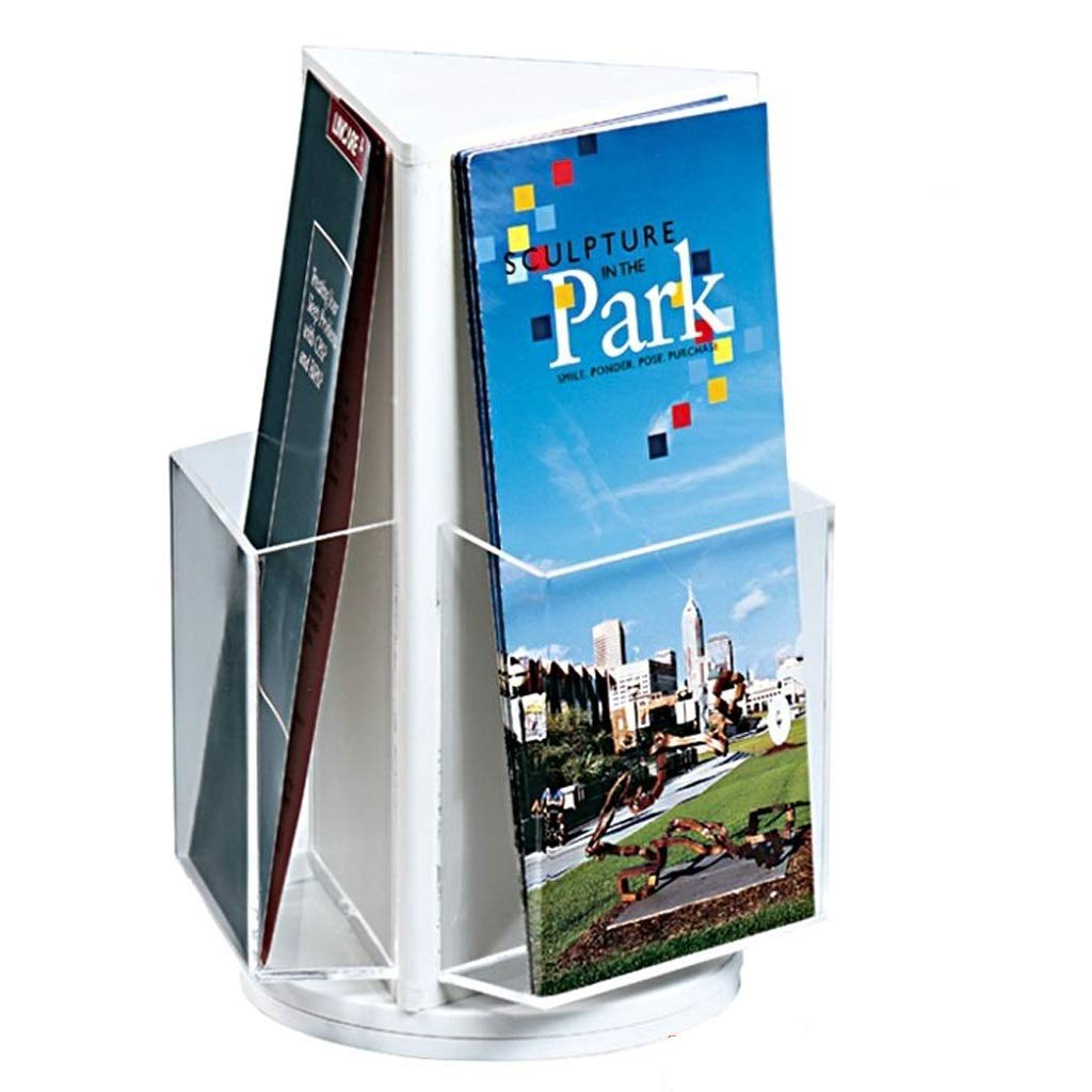 LPYMX Menu Holder Menu Holder A4 Acrylic Logo Bracket Double-Sided menu Poster Display Stand A4 Display Stand (Color : Black) by LPYMX