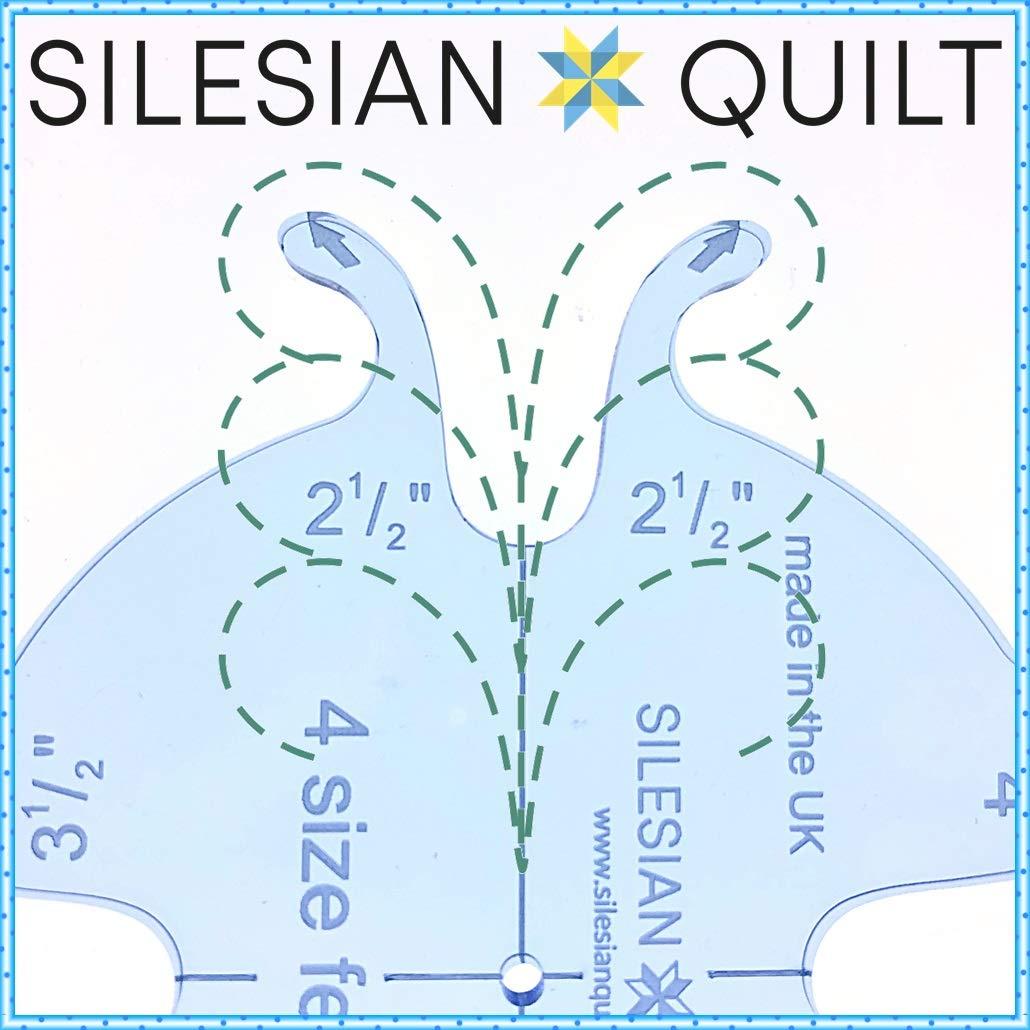 Silesian Quilt Schablone zum Quilten 4 Gr/ö/ßen Federn