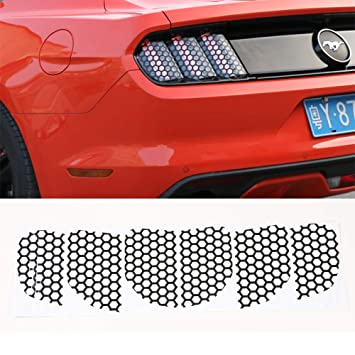 Nkcar Honeycomb Tail Lamp Sticker for Ford Mustang 2015-2016