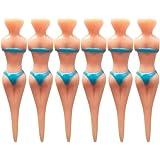SPLHMILY Sexy Bikini Lady Golf Tees, 6pcs Woman Shape Plastic Lady Golf Model Tees for All Level Golfers