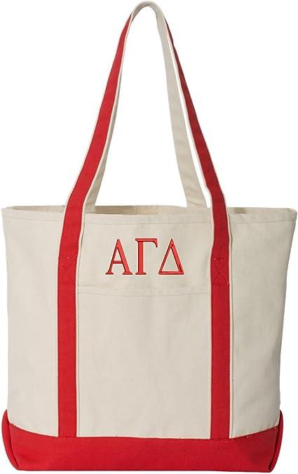 Alpha Gamma Delta Giant Floral Tote Bag
