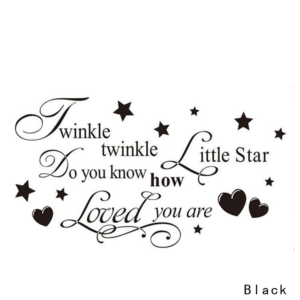 Discountfan Removable Twinkle Twinkle Little Star Quote Wall Sticker Mural Kids Bedroom Art Decal DIY Home Decor