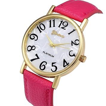 XBY.mi 1PCS Reloj de Cuarzo con Esfera Digital y Cuarzo Rosa.