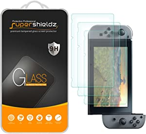 (3 Pack) Supershieldz for Nintendo Switch Tempered Glass Screen Protector, 0.33mm, Anti Scratch, Bubble Free