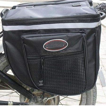 Dunlop Negro//Gri Doble PES Alforjas para Bicicleta