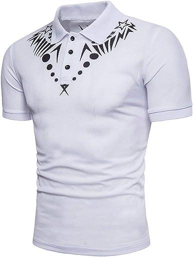 Camisa De Polo De Manga Corta Diseñada para Retro Hombre De Verano ...