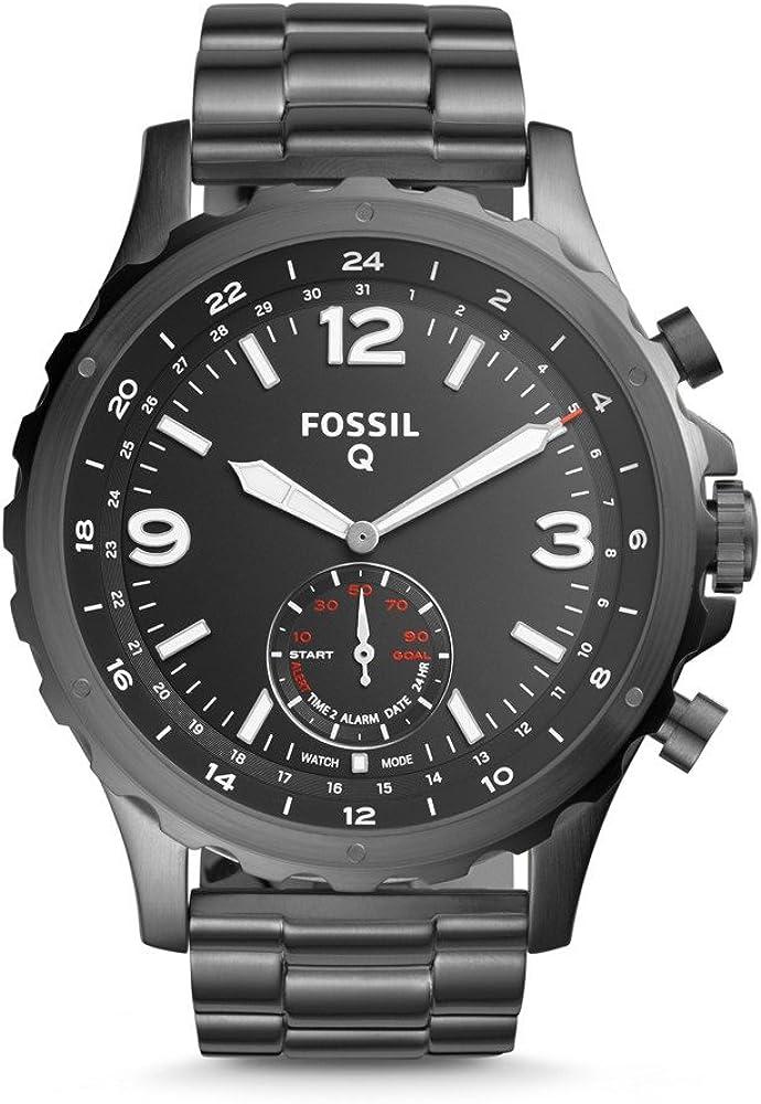 Fossil Nate Smartwatch Híbrido para Hombre con Correa de Acero ...