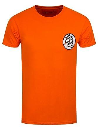 Dragon Ball Men T Shirt Kaio Kame Symbol Distressed Cotton Orange
