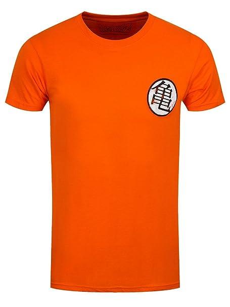 Dragon Hombre De Symbol Ball Kame Xl Algodón Distressed Kaio Naranja Camiseta hQCdtxsr