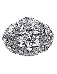 Fawziya Big Diamond Flower Purses And Clutches And Evening Bags