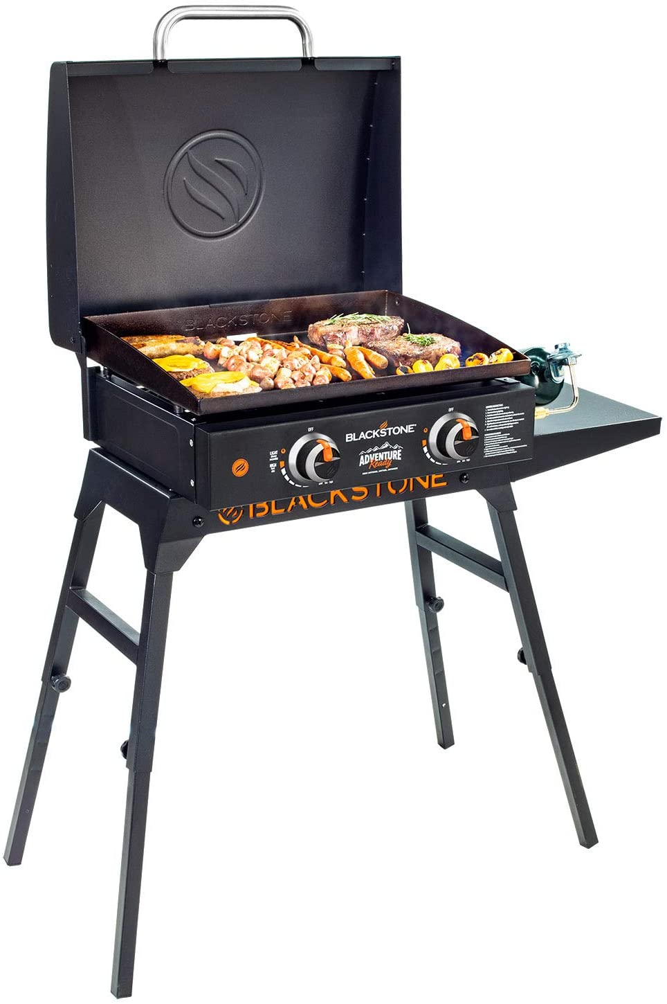 """Griddle Blackstone Adventure Ready 22"""" with Hood, Legs, Adapter Hose"""