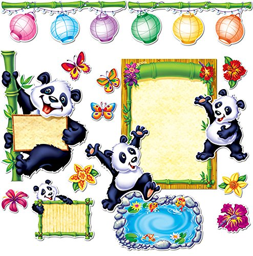 Creative Teaching Press Panda Pals Bulletin Board Set, Black (1491)