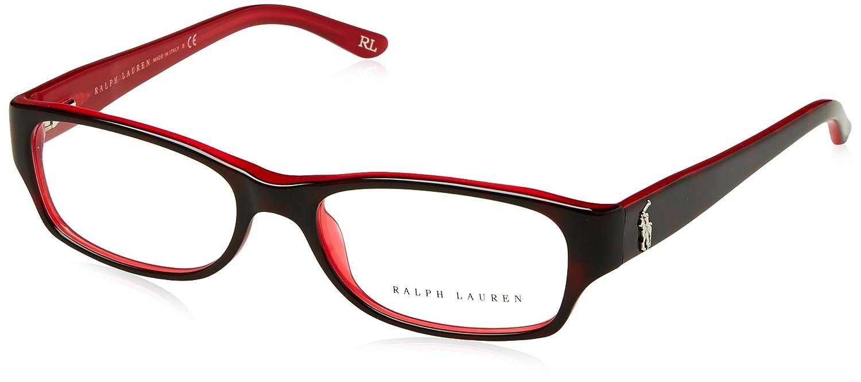 fe04bd49dc0768 RALPH LAUREN Monture lunettes de vue RL 6058 5255 Havane Rouge 51MM   Amazon.fr  Vêtements et accessoires