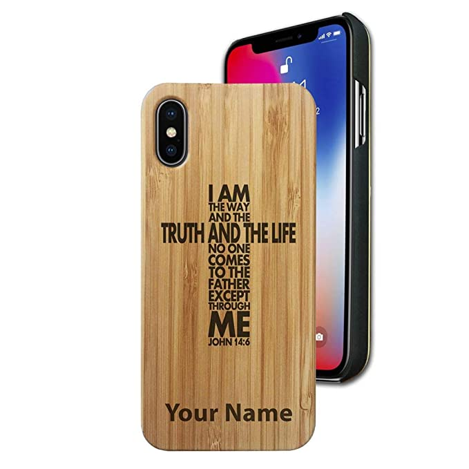 Amazon com: Bamboo case Compatible with iPhone X and iPhone