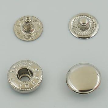 20Set 10 mm Metal Snap cierre piel Rapid remaches perchero ...