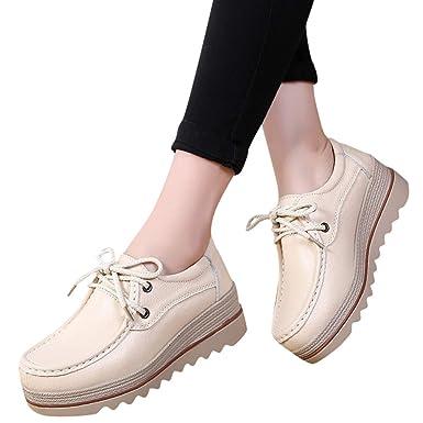 ad2288913985f Amazon.com: BOOMJIU Women Platform Slip On Loafers Comfort Suede ...