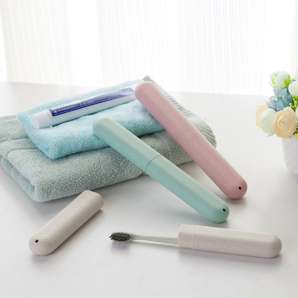 Portatile newhashiqi Semplice e Semplice Blue Scatola da Viaggio per spazzolino da Denti