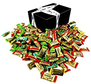 Chimes Ginger Chews 5-Flavor Variety: One 2 lb Assorted Bag of Original, Orange, Mango, Peppermint, and Peanut Butter in a BlackTie Box