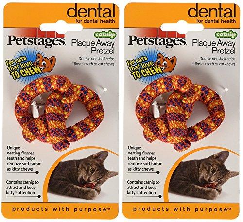 (2 Pack) Petstages Catnip Plaque Away Pretzel