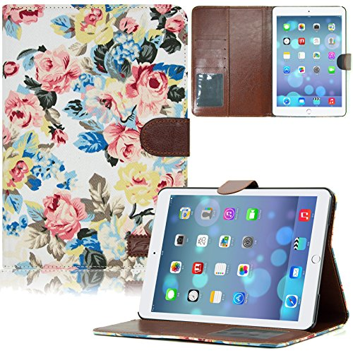 iPad Mini Case,Dteck(TM) Fashion Vintage Design Flower Pattern Auto Wake/Sleep Function Stand case for Apple iPad Mini 1/2/3 (7.9 inch Tablet)(2 White Floral)