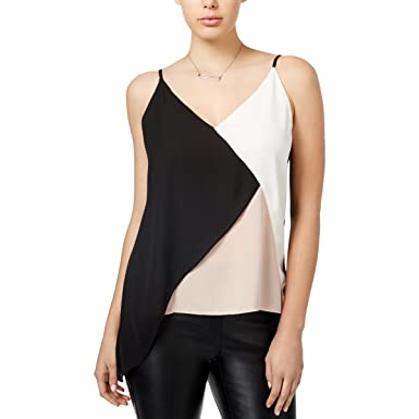 40bc5a3ce5651 Bar III Womens Colorblocked Asymmetrical Camisole Top at Amazon Women s  Clothing store