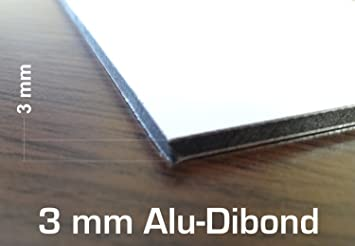 3 Mm Blanc Acm Plaque 400 X 300 Mm Dibond Aluminium