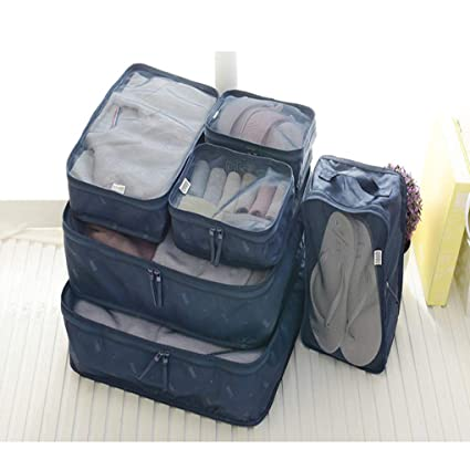 3c3d1cb65947 Sarazong Packing Cubes 6 Set,Travel Luggage Organizer With Clothes ...