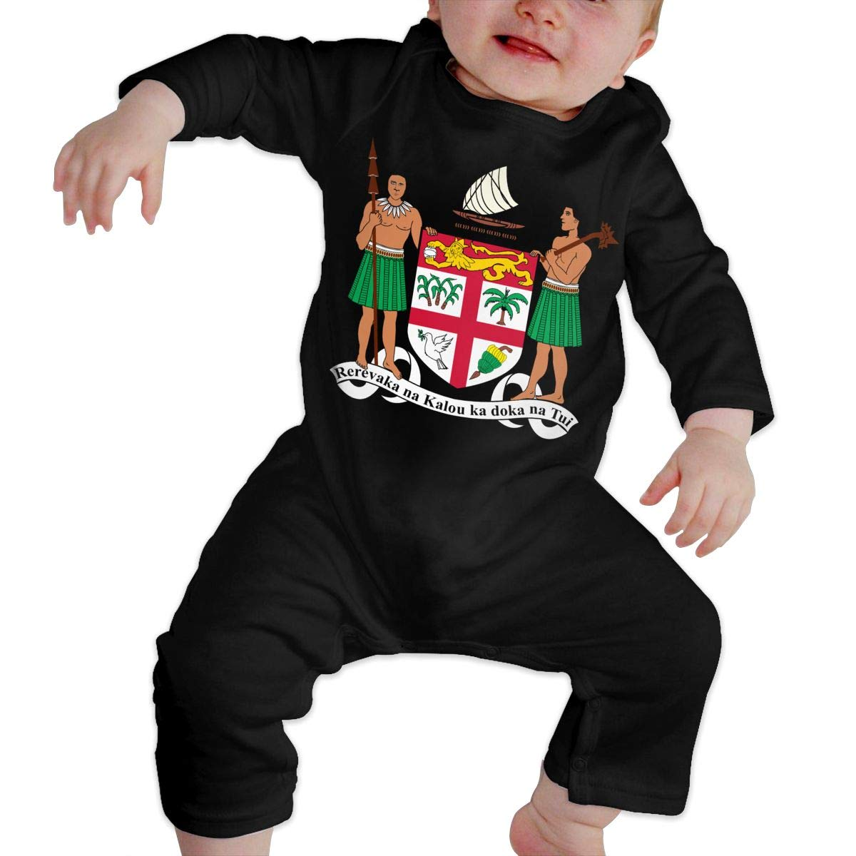 Coat of Arms of Fiji Newborn Baby Boy Girl Romper Jumpsuit Long Sleeve Bodysuit Overalls Outfits Clothes