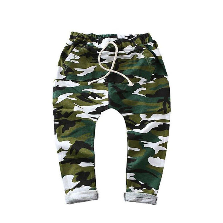 daqinghjxg Children Harem Pants for Boys Camo Army Trousers Kids Child Casual Pants Bazigreen 4t
