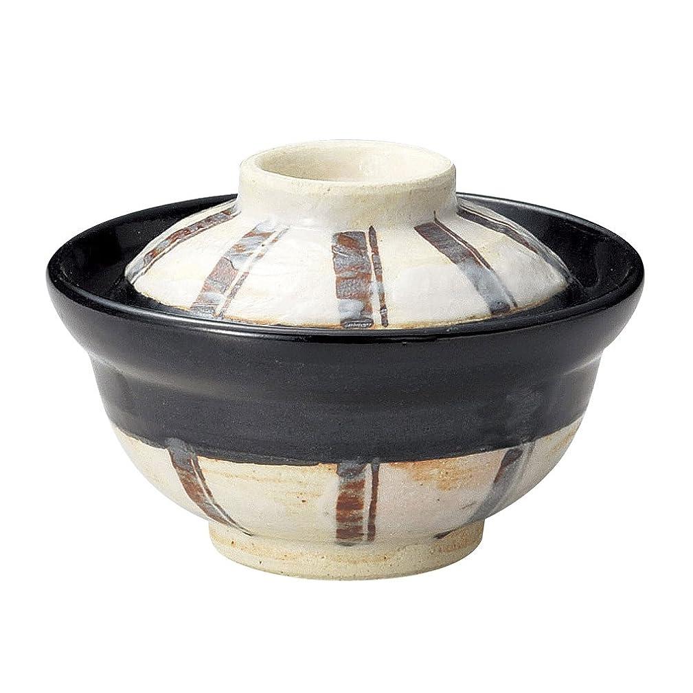 皿構造的プーノ蓋物 陶器 煮物碗 蓋付き 鉢 浅 平 丼 瑠璃 藍 白