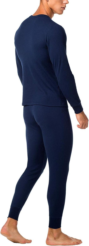 Maglia Maniche Corte /& Pantaloni Invernali per Uomo M60 LAPASA Uomo Set Intimo Termico in Cotone Waffle Knit Materiale Naturale