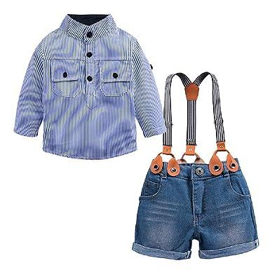 Fuxitoggo Trajes para niños Bebé recién Nacido Chico Guapo Camisa ...