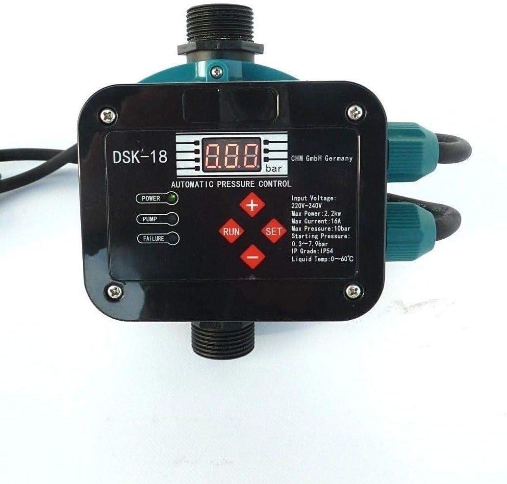 CHM GmbH DSK-18 Control Digital de Bombas con tecnolog/ía de Sensor El Chip Maestro y el Sensor de presi/ón controlan el Encendido y Apagado de la Bomba para Bombas de hasta 2,2 kW.