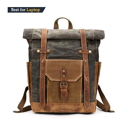 Amazon.com: Vintage Canvas Leather Bag Commuter