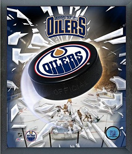Edmonton Oilers NHL Team Logo Puck Photo (Size: 17