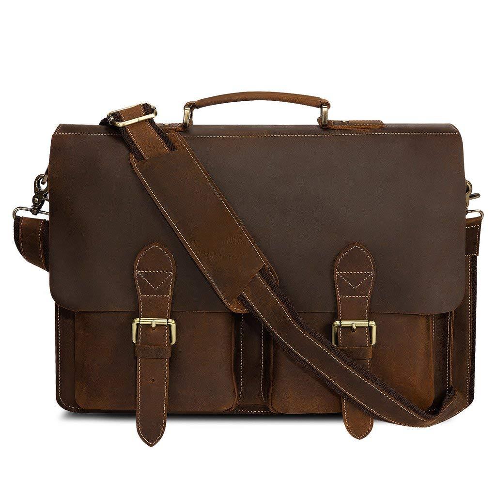 Genuine Leather Messenger Bag for Men Laptop Bag Crossbody Shoulder bag Handmadecraft Leather Unisex Real Leather Briefcase Satchel (12 X 16)