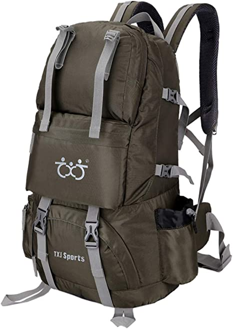 Traveling MOUNTAINTOP 40L Hiking Backpack with Rain Cover Water Resistant Mens women Rucksack Trekking Camping walking 55 x 33 x 20 cm