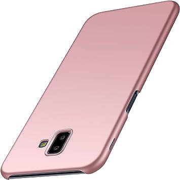 Anccer Funda para Samsung Galaxy J6 Plus [Serie Colorida] [Ultra-Delgado] [Ligera] Anti-rasguños Estuche para Galaxy J6 Plus (Oro Rosa Liso): Amazon.es: Electrónica