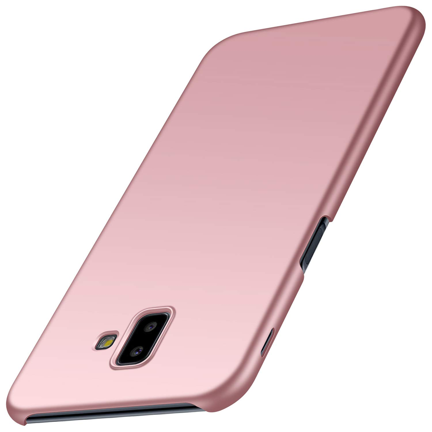 Arkour Galaxy J6 Plus Case, Minimalist Ultra Thin Slim Fit Smooth Matte Surface Hard PC Cover for Samsung Galaxy J6 Plus (Smooth Rose Gold)