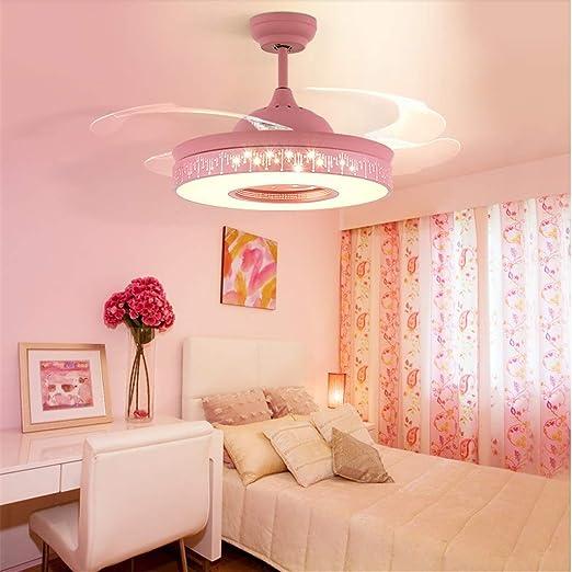 JINWELL Ventilador de techo Luz de luz invisible del ventilador ...