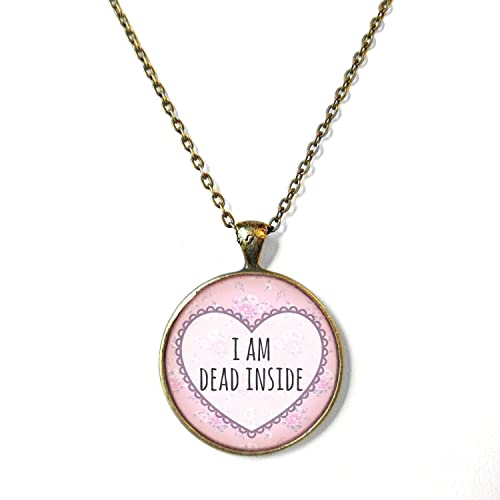 amazon com pale pink floral i am dead inside conversation heart