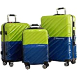 Discovery Smart Classy Tracker Chip Luggage Trolley Bag, Blue and Green