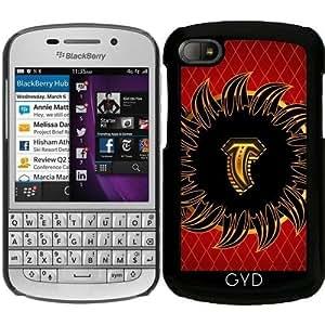 Funda para Blackberry BB Q10 - Monograma Del Diseño Del T by nicky2342