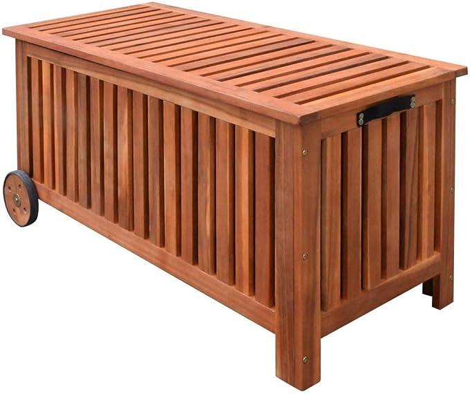 vidaXL 41772 - Caja de almacenaje para jardín con ruedas (118 x 52 ...