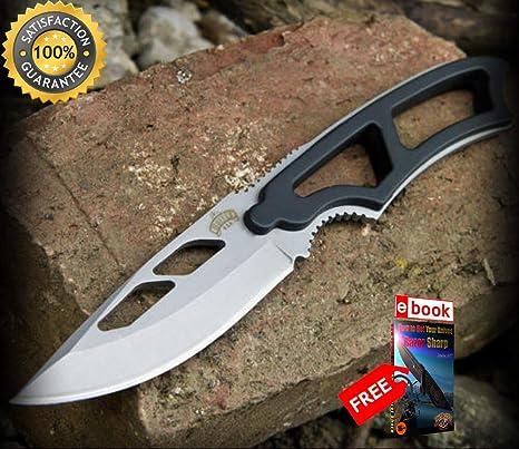 Amazon.com: Luna Knives - Cuchillo táctico para cuello de ...