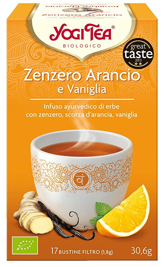 Yogi Tea Infusión de Hierbas Jengibre, Naranja y Vainilla - 17 ...