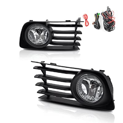 Fog Lights Compatible with Toyota Prius 2004 2005 2006 2007 2008 2009 (OE Style Real Glass Clear Lens w/ 9006 12V 51W Bulbs): Automotive