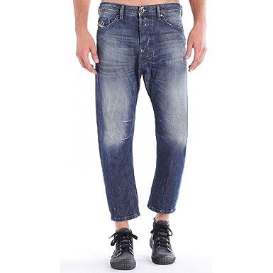 ab9f3c18 Amazon.com: Diesel Men's Blue Worn Look Narrot Regular Carrot Jeans ...