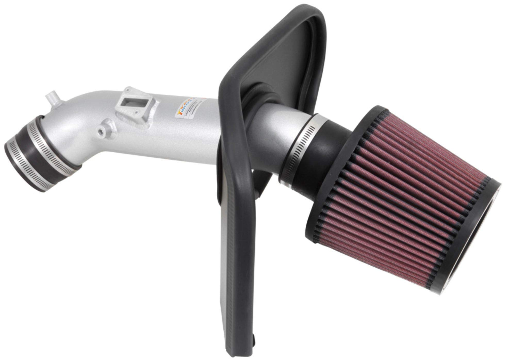K&N Cold Air Intake Kit with Washable Air Filter:  2013-2017 Honda Accord, 2.4L L4, Polished Metal Finish with Red Oiled Filter, 69-1213TS by K&N