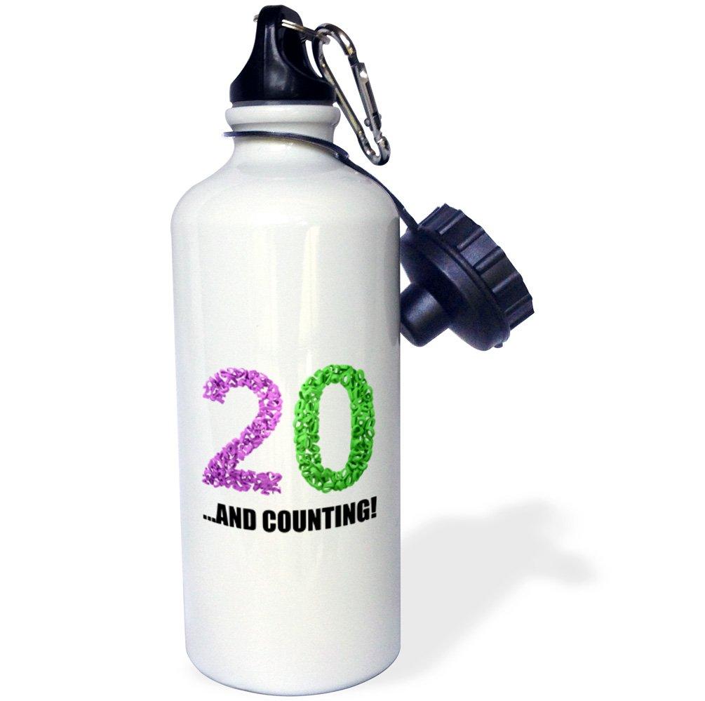 21 oz 3D Rose 2 wb/_238569/_2 Flip Straw Water Bottle